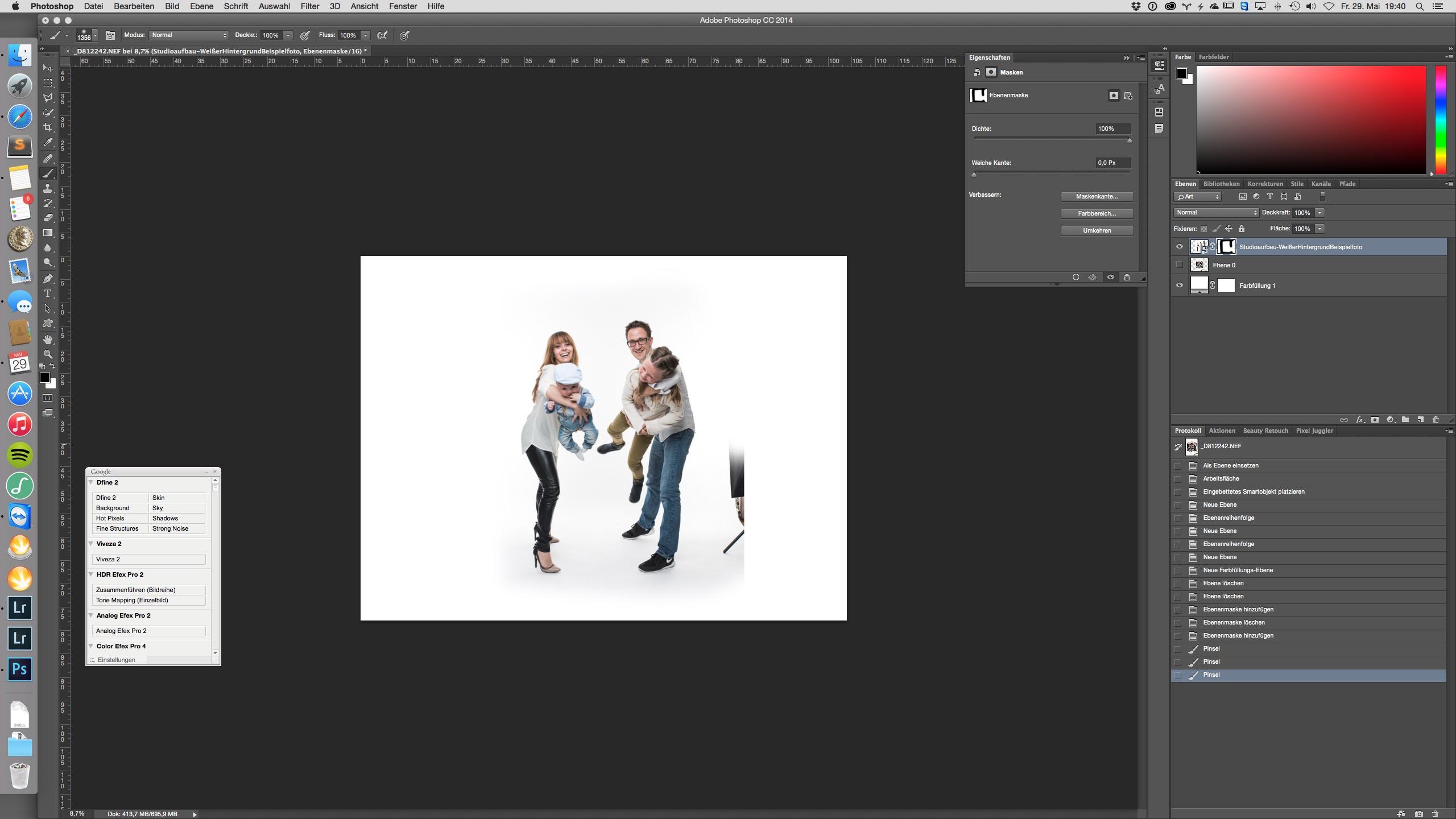 Weißen Studiohintergrund In Photoshop Bearbeiten